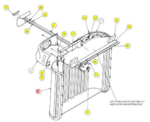 Решетка радиатора - SX016766
