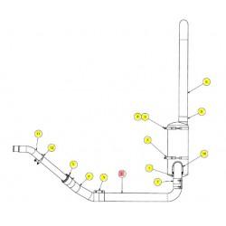 Труба глушителя задняя - SX017001