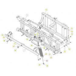 Кронштейн пружин сварной нижний - SX017250