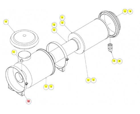 Хомут воздушного фильтра - SX017309