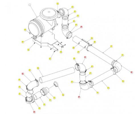 Патрубок угловой резиновый - SX017322