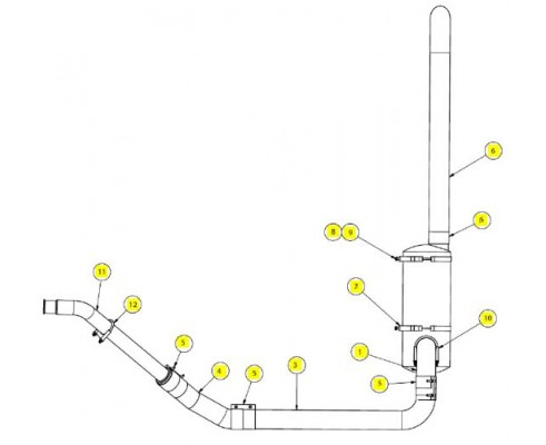 Глушитель 4 дюйма - SX017528