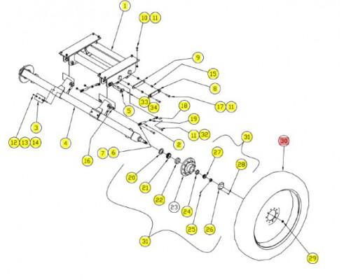 Колесо с диском - SX017687C
