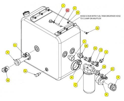 Шланг топливный 5/16 id x 5 - SX018092V05