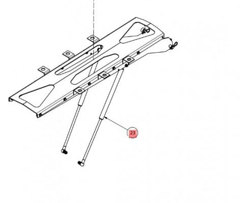 Амортизатор газовый - SX018097