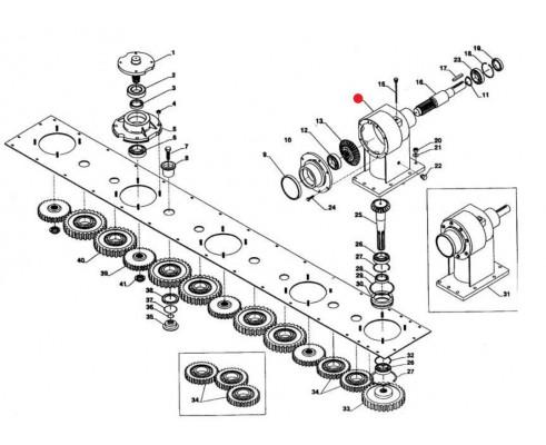 Корпус редуктора - 6052014