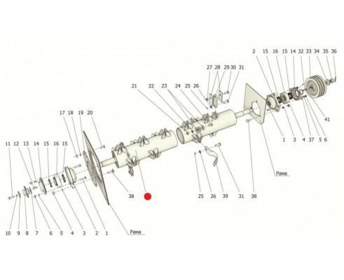 Вал ротора с ушками - КСД 02.01.000Б