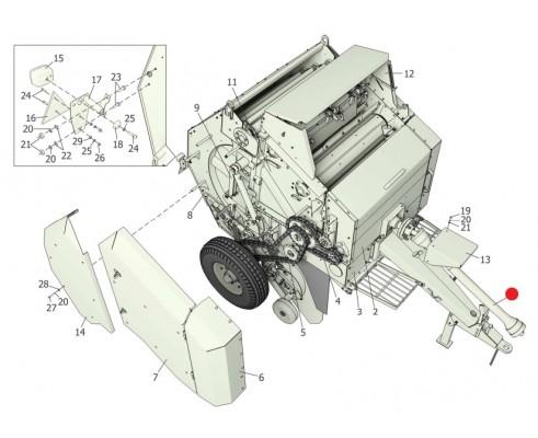 Вал карданный - 2009/1850/КН/63.22-52