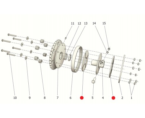 Накладка сцепления  - РСМ 10.08.01.026