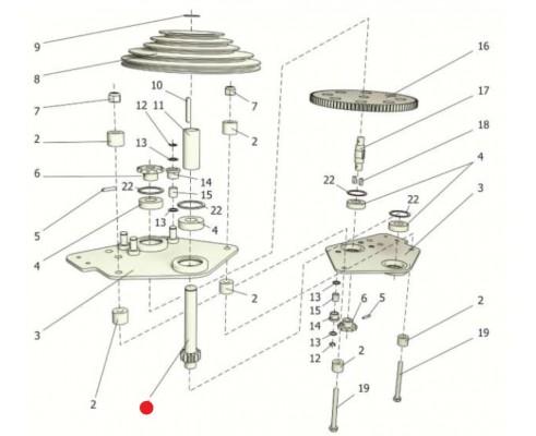 Вал-шестерня - ППР 122.10.604А