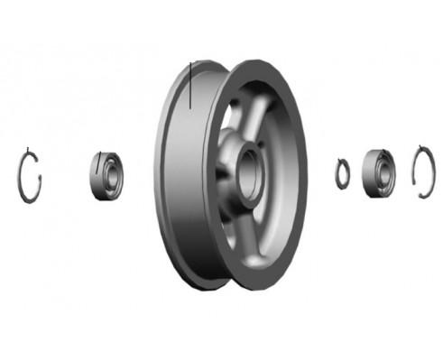 Шкив натяжной плоский с подшипником d 224 мм