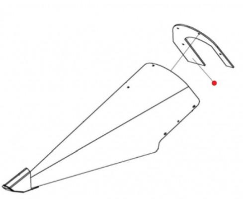 Вставка (отлив носок левый, правый) - 1.322.523А