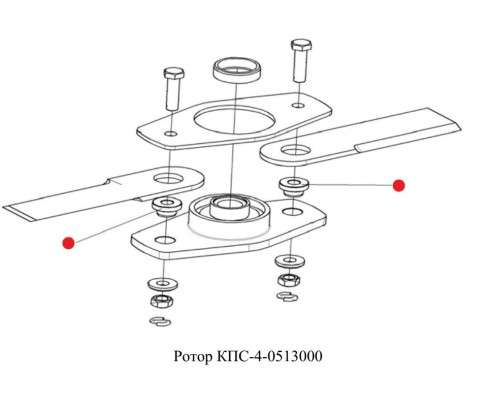 Втулка (нож ротора) - КПС-4-0513603
