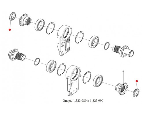 Гайка (опора привод русел) - 1.326.712