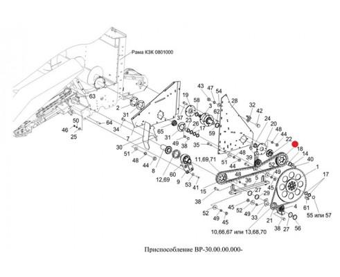 Звездочка (ведущая привода русел) Z-29 - 1.307.496