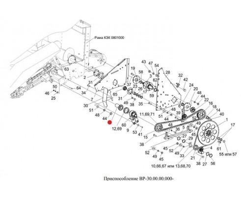 Звездочка левая (полумуфта) L-170мм - 1.323.895