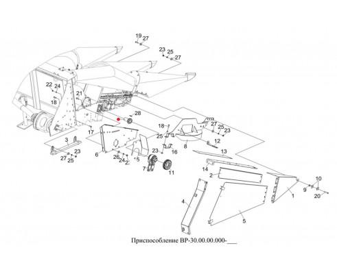 Звездочка правая (полумуфта) L-120мм - 1.329.810