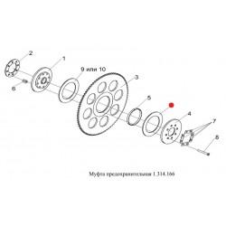 Накладка фрикционная (180х125х3,8) - ТР.С-005