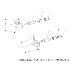 Опора (вальца русла правая) - КПС-4-0510030-01