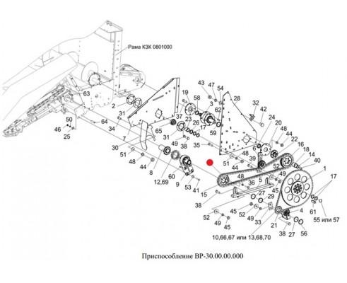 Цепь 12 А-2 (2ПР-19,05) (125 зв., L-2381,25) - ЦЕП0000027