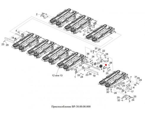 Шпонка (полумуфта разрезная) - 12х8х36-23360
