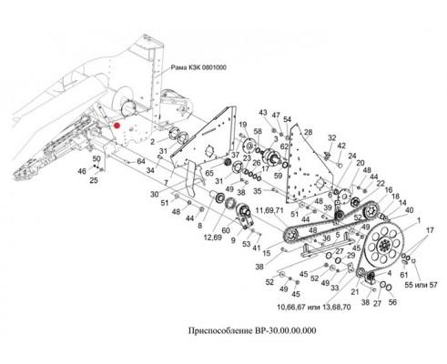 Шпонка (полумуфта L-170мм) - 12х8х90-23360