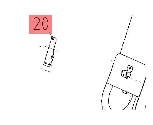 10.01.50.442А - Рукоятка вилки крышки элеватора