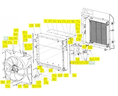 Блок радиаторов - 181.05.00.200