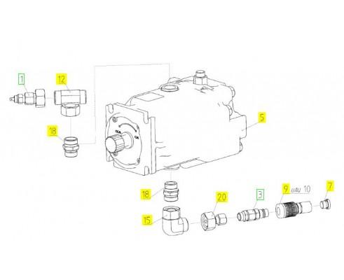 Гидромотор аксиально-поршн - 181.09.21.500