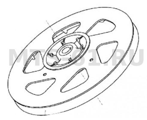 54-2-170Ч - Шкив заднего контрпривода 2-х ручьевой чугун